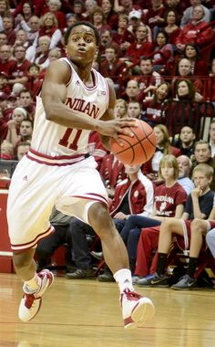 Freshman guard Yogi Ferrell moves the ball down court during IU's 83-55 win against Purdue on Saturday at Assembly Hall.   Indiana Daily Student