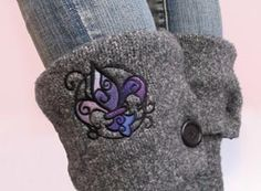 How to make a pair of sweater boots. Sweater Boots!! - Step 20