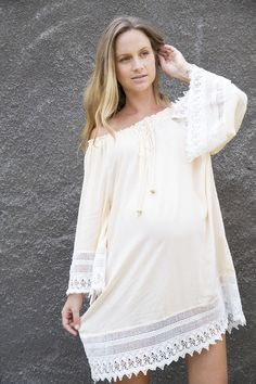 """Dream Catcher"" - Maternity Kaftan Fillyboo - Boho inspired maternity clothes online, maternity dresses, maternity tops and maternity jeans...."