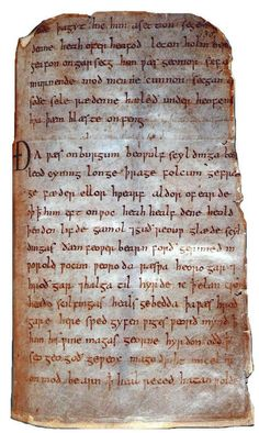 medieval manuscript of the Old English epic Beowulf