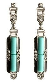 Kenneth Jay Lane art deco earrings