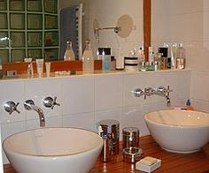Salle de bains on pinterest merlin hemnes and bathroom for Plan de travail fait maison