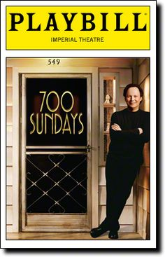 The return engagement of Billy Crystal's 700 Sundays opens tonight at the Imperial Theatre