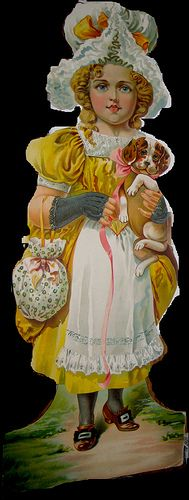Colonial Doll in Yellow Dress by Pennelainer, via Flickr