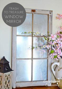 barn window, mirrors, spring flowers, flower bouquets, old windows