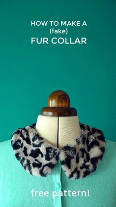 HOW TO MAKE A (fake) FUR COLLAR from http://www.tillyandthebuttons.com/2013/12/free-pattern-make-fake-fur-collar.html