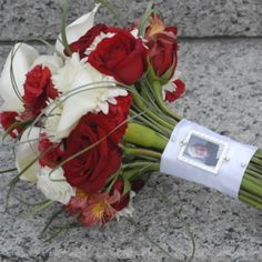 """Using a pic of my dad on my bouquet? So he's """"walking with me""""?"""