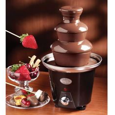 Mini Black Chocolate Fondue Fountain.
