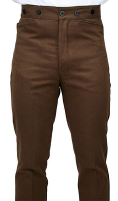 Sable Brushed Cotton Trousers