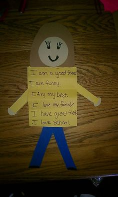All about me- Could combind this idea with our shape person craft