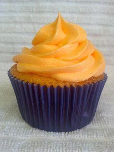 Bronco orange cream cupcake