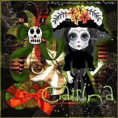 La Catrina  con el arte de Osa Honey  y scrapkit de BebaGx