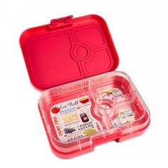 New Yumbox Panino Anguria Pink - Leakproof, sandwich  & salad friendly bento for kids and adults. Pack balanced healthy meals for work and school. No waste, reusable, kid-friendly.