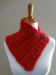 Strawberry Jam Neck Wrap | AllFreeKnitting.com