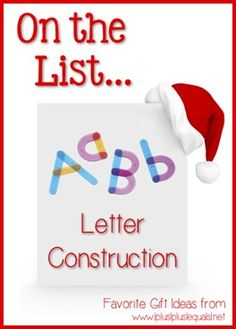 Christmas Gift Ideas ~ Letter Construction Activity Kit --- @{1plus1plus1} Carisa is sharing her top ten ideas from now until Christmas!