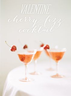 Cherry Fizz Cocktails