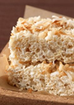 Coconut RICE KRISPIES® TREATS™ -- Take your traditional RICE KRISPIES® TREATS™ recipe to another level of tasty--ready for the dessert buffet in just 15 minutes.