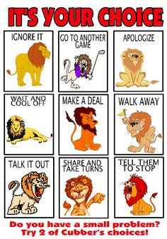 Cubber's Choice is an example of how one school made their own version of Kelso's choices using the lion mascot.