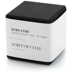 This neat little black cube efficiently purifies and refreshes the air in smaller spaces as it reduces odors. Try it in places such as drawers, closets, the car or your refrigerator.