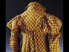 Redingote de femme imprimé à la planche de bois vers 1810 Musée de la Toile DE Jouy