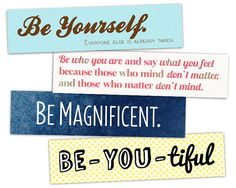 Printable Bookmarks  Be Quotes  Instant by AllTheBestQuotes, $3.50