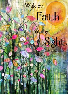 Faith 8 x 10 flowers art print archival print by RobinMeadDesigns, $20.00