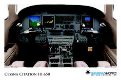 """Universal Avionics: Cessna Citation III 650 - (1) Display Suite: 3 EFI-890R 8.9"""" Flat Panel Displays; (2) Situational Awareness: 1 Vision-1 Synthetic Vision System, 1 Terrain Awareness and Warning System (TAWS), 2 Universal Cockpit Display (UCD) terminals for Jeppesen charts, checklists, weather and E-DOCS; (3) Flight Management: 2 UNS-1L FMSs with 4"""" CDUs; (4) Radio Tuning and Communications: 2 Radio Control Units (RCU), 1 UniLink UL-701 Communications Management Unit (CMU)"""