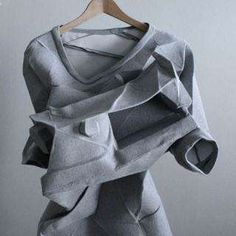 Origami Fashion sculptural shapes & textures, geometric fashion