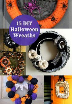 15 Unique Halloween Wreaths to Make - diycandy.com