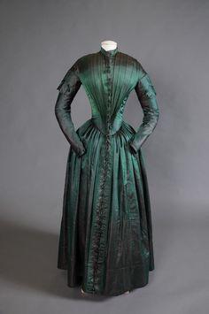 1840s1850s dress, costum, silk dress, histor dress, victorian fashion, museum, 1840s dress, lace dresses, 1840 fashion