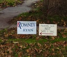 Romney Sign Fail - NoWayGirl
