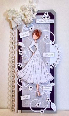 wedding scrapbook pages, gift tags
