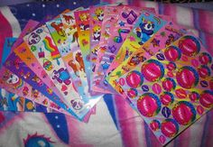 80s, 90s kid, lisafrank, frank sticker, stickers