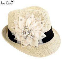 Floral Bling Fedora Hat #janedivine