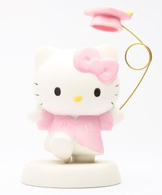 We love your pink gown and hat #HelloKitty! The cutest gift for graduates: #HelloKitty figurine by Precious Moments