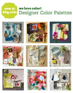 Behind-the-Scenes: New Designer Color Palettes! Read more on Style Spotters: http://www.bhg.com/blogs/better-homes-and-gardens-style-blog/2013/03/01/behind-the-scenes-new-designer-color-palettes/