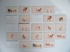 DIY animal matching cards GAME to download here  www.lamaisondeloulou.com/blog