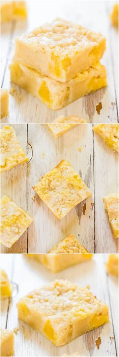 Tropical Escape Soft Pineapple Crumble Bars - Sweet, soft bars with big pineapple chunks that taste like a tropical vacation!