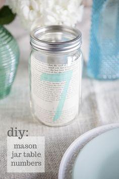 Something Turquoise DIY Mason Jar Table Numbers Tutorial!