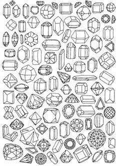 Mineral patterns...I know these aren't tangles, but I just really want to doodle these!
