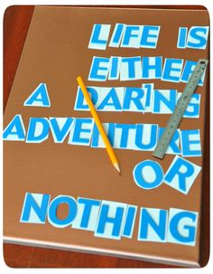 DIY Canvas quote