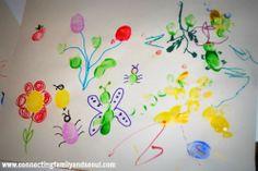 Spring Family Thumbprint Art #kidsart #family