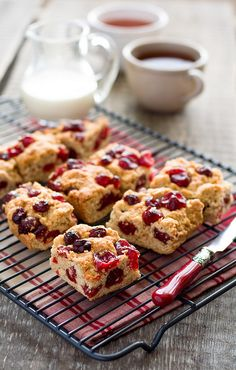 These would be wonderful at Christmas: Dried Cherry Cookies.