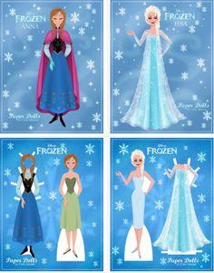 FREE Disney Frozen Paper Dolls
