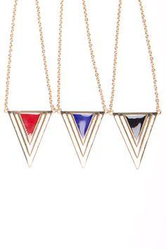 Pyramid Pendant Necklace