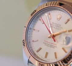 18K Everose & Stainless Steel #Rolex Turn-O-Graph also known as the Thunderbird. #Men #Fashion