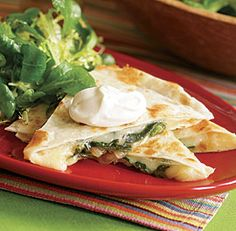 Quesadillas with Roasted Poblanos & Onions (Rajas)