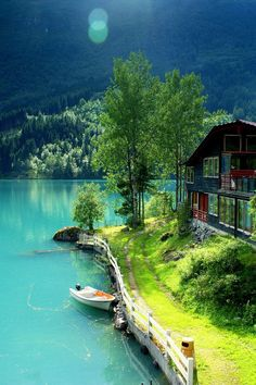 dream, beauti place, lodalen, amaz, scandinavian travel, lake hous, destin, thing, norway