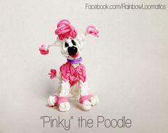 Rainbow loom charm dog