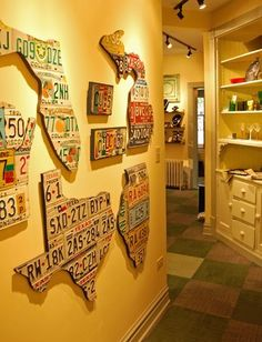 License Plate Walls